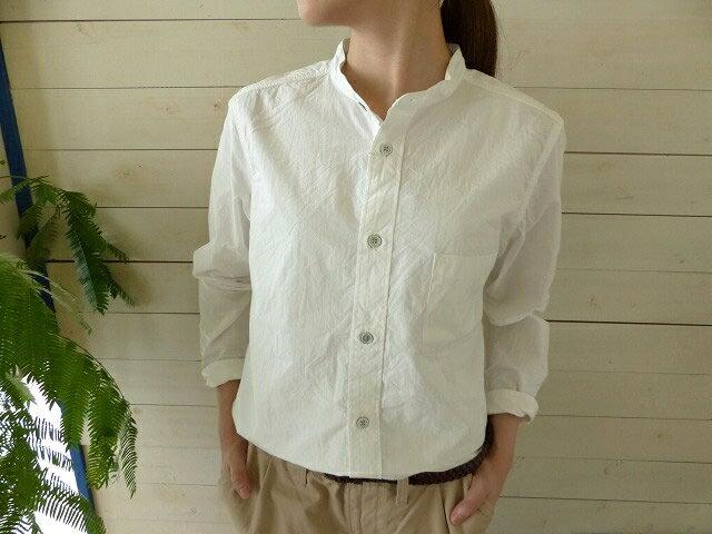 RINEN(リネン) ダウンプルーフスタンドカラーシャツ(36001)