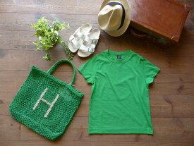 homspun(ホームスパン) 天竺半袖Tシャツ グリーン XL・XXL サイズ (182-6272)