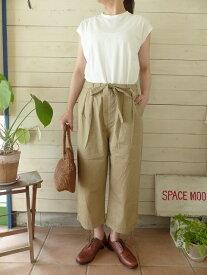 【30%OFF SALE】MidiUmi(ミディウミ) LINEN BANANA FOOT PANTS(1-766961)