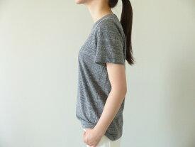 homspun(ホームスパン) 天竺半袖Tシャツ (3)粗挽杢チャコール(192-6271)