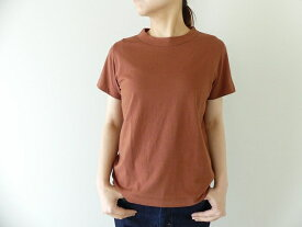 homspun(ホームスパン) 天竺半袖Tシャツ (3)ブラウン(201-6271)