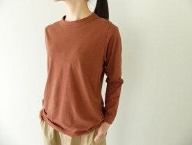 homspun(ホームスパン) 天竺長袖Tシャツ (3)ブラウン(201-6616)