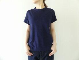 homspun(ホームスパン) 天竺半袖Tシャツ (4)ネイビー(6271)