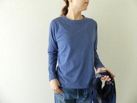 homspun(ホームスパン) 天竺長袖Tシャツ (3)ブルー(202-6616)