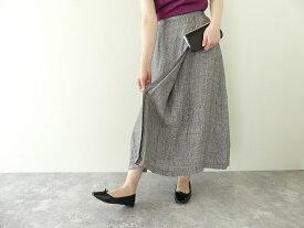 style+confort(スティールエコンフォール) リネングレンチェックラップスカート(101-31020)