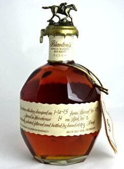 布兰顿原单桶 700 毫升 46.5 度拉绳袋布兰顿的威士忌与美国波本威士忌 A01055