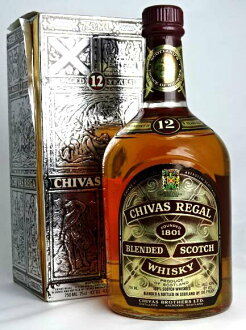 Chivas Regal 12 750 ml 43 year old label whiskey FOUNDED 1801 CHIVAS REGAL A01235