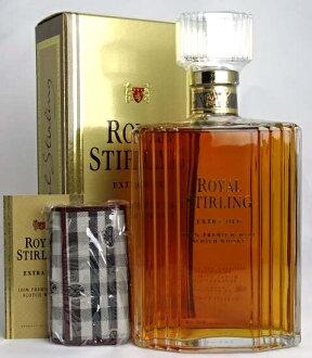 皇家英镑额外的老 750 毫升 43 ° 威士忌酒包装盒,原始关键案例皇家斯特林额外旧 A01264