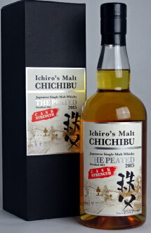 S malt Chichibu the 2015 peated cask strength 700 ml 62.5 degrees Ichiro's Malt CHICHIBU Japanese Single Malt Whisky THE PEATED 2015 A 01737