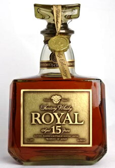 At the end 売品 Suntory whisky Royal 15 years gold label-750 ml SUNTORY ROYAL AGED 43 at! % YAERS Japanese Whisky A02497
