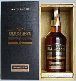 ■有日本未進貨■airu·of·天21年限量發行版700ml 40度專用的木盒的Isle of Skye 21 years LIMITED EDITION布倫死亡蘇格蘭威幹忌A05402