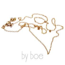 by boe バイボー【Pendant Chain】Short Alfabet Cable Chain ショート アルファベット ケーブル チェーン 14kgf ゴールド シンプル カジュアル 華奢 NY レディース