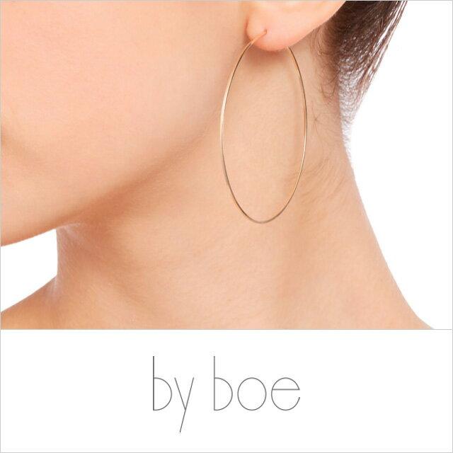 【メール便可】【ラッピング無料】by boe バイボー【E237 LG】Large Classic Hoop Earrings ラージ クラシック フープ ピアス 14kgf 大ぶりピアス 再入荷 ロングセラー ベストセラー レディース 金属アレルギー