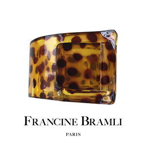 FRANCINE BRAMLI PARIS フランシーヌ ブラムリ パリ アニマル柄 ブレスレット バングル カジュアル 大ぶり 大きめ ボリューム レトロ 華奢 レディース