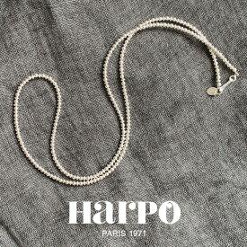 【再入荷】HARPO アルポ Navajo round and saucer silver beads necklace 64cm/3mm ナバホラウンドアンドソーサーシルバービーズネックレス ナバホパール インディアンジュエリー フランス パリ レディース ハルポ