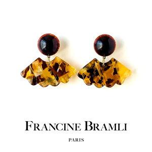 FRANCINE BRAMLI PARIS フランシーヌ ブラムリ パリ nuage クリップ式 イヤリング 樹脂 シンプル カジュアル ブランド レディース