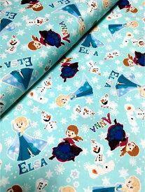 ディズニー アナと雪の女王 プリント オックス生地 ■10cm単位■