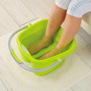 リラックス足湯専科 タオル掛けハンドル付 足湯器