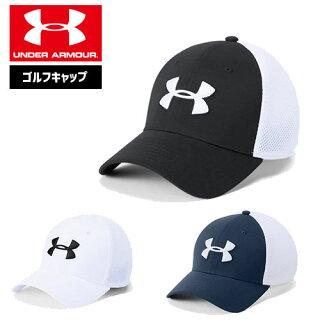 アンダーアーマーメンズゴルフキャップ帽子1305017ヒートギア夏用UNDERARMOURスレッドボーンクラシックメッシュキャップ