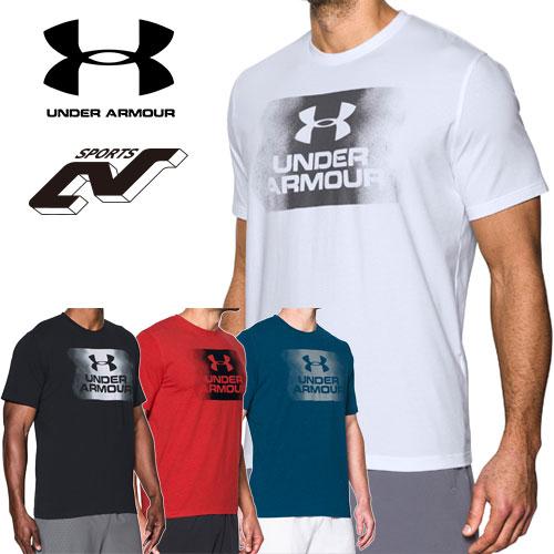 アンダーアーマー Tシャツ メンズ ヒートギア(夏用) UNDER ARMOUR チャージドコットンTシャツ<オーバースプレーロゴ>〔1289894〕