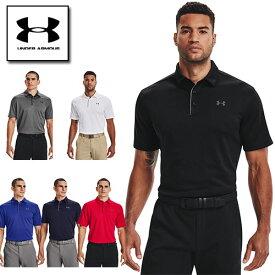アンダーアーマー ゴルフウェア メンズ ポロシャツ 1290140 ヒートギア(夏用) ゴルフ ワンポイント UNDER ARMOUR テックポロ