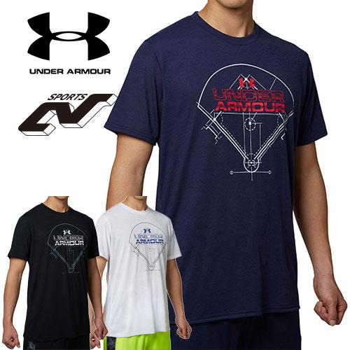アンダーアーマー メンズ 野球 Tシャツ ヒートギア(夏用) UNDER ARMOUR テックTシャツ<WORDMARK FIELD>〔1295460〕