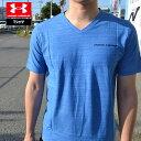 アンダーアーマー Tシャツ メンズ Vネック コットン ヒートギア(夏用) UNDER ARMOUR チャージドコットンVネックTシ…