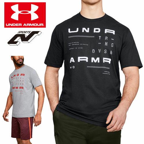 在庫処分セール アンダーアーマー Tシャツ メンズ トップス 普段着 綿 グラフィック 1318557 ヒートギア(夏用) UNDER ARMOUR トレーニングディビジョンTシャツ