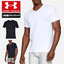 アンダーアーマー メンズ アンダーウェア インナー Tシャツ Vネック 2枚セット 1327429 ヒートギア(夏用) UNDER ARM…