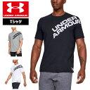 アンダーアーマー メンズ Tシャツ グラフィックTシャツ 1344227 ヒートギア(夏用) UNDER ARMOUR コットンTシャツ<ショルダーワード…