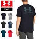 アンダーアーマー Tシャツ ビッグロゴ グラフィックTシャツ 1347880 メンズ ヒートギア(夏用) UNDER ARMOUR スポーツスタイルレフト…