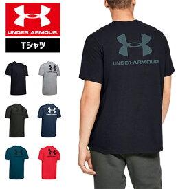 アンダーアーマー Tシャツ ビッグロゴ グラフィックTシャツ 1347880 メンズ ヒートギア(夏用) UNDER ARMOUR スポーツスタイルレフトチェストバックTシャツ