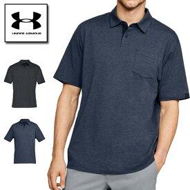 アンダーアーマー メンズ ポロシャツ ゴルフウェア 1321111 ヒートギア(夏用) UNDER ARMOUR ニューチャージドコットンスクランブルポロ