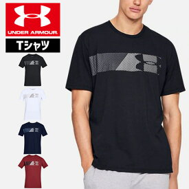 アンダーアーマー メンズ Tシャツ グラフィックTシャツ コットン 速乾 伸縮 1329584 ヒートギア(夏用) UNDER ARMOUR チャージドコットンTシャツ<FAST LEFT CHEST 2.0>〕