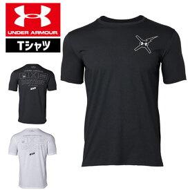 アンダーアーマー メンズ Tシャツ グラフィックTシャツ 背中ロゴ トップス 1329601 UNDER ARMOUR バックロゴTシャツ<DESTROY>