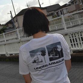 アンダーアーマー メンズ Tシャツ グラフィックTシャツ バックロゴ コットン 速乾 伸縮 1329614 UNDER ARMOUR チャージドコットンTシャツ<スプリットヘム>