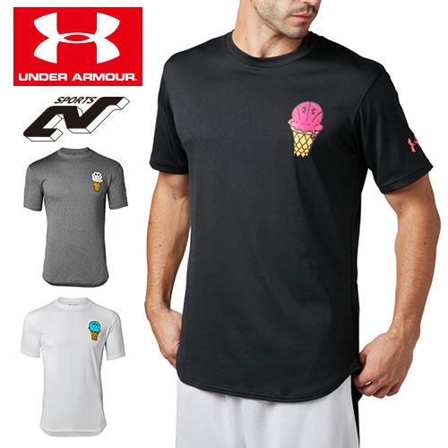アンダーアーマー メンズ Tシャツ グラフィックTシャツ 限定グラフィック 1331555 ヒートギア(夏用) UNDER ARMOUR テックTシャツ<Ice Cream>