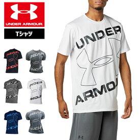 アンダーアーマー Tシャツ メンズ 半袖 ビッグロゴ トレーニング スポーツジム 1359133 ヒートギア(夏用) UNDER ARMOUR テックTシャツ<シーズナルビッグロゴ>