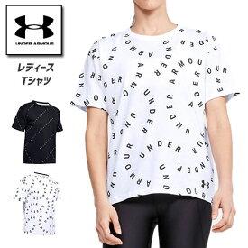 アンダーアーマー レディース Tシャツ ヨガ ヨガウェア ピラティス ピラティスウェア カットソー 1355708 ヒートギア(夏用) UNDER ARMOUR レディースTシャツ<プリントパックロゴ>