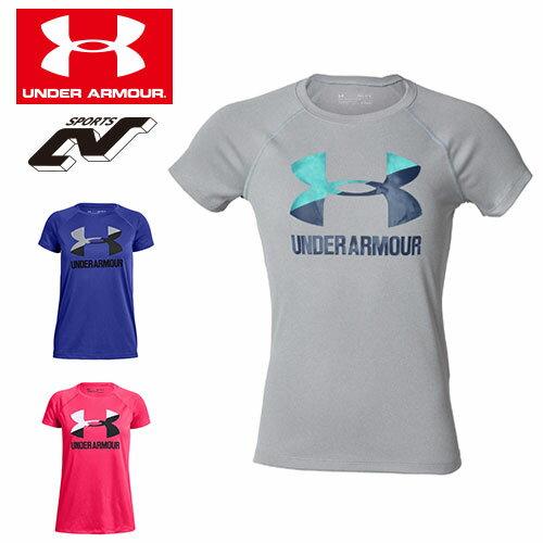 アンダーアーマー ジュニア Tシャツ ビッグロゴ ガールズ 1331678 女の子 ヒートギア(夏用) UNDER ARMOUR ビッグロゴソリッドTシャツ