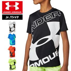 アンダーアーマー ジュニア Tシャツ 小学生 ビッグロゴ 通学 かっこいい 160cm対応 1353546 UNDER ARMOUR ジュニアテックTシャツ<ブランドビッグロゴ>