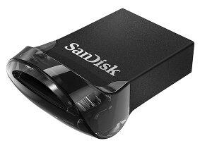 USBメモリー64GBSanDiskサンディスクUltraFitUSB3.1Gen1R:130MB/s超小型設計ブラックパッケージ品送料無料