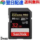 SDカード Extreme Pro SDHC カード 32GB【3年保証・翌日配達送料無料】class10 SanDisk サンディスク 超高速95MB/s V3…