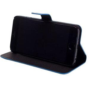 iPhone6iPhone6s用PUレザーケースお洒落ボーダー手帳型スマホケーススタンドケース