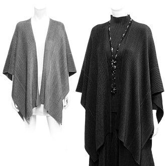 SPECCHIO スペッチオ / shuttle pleats poncho / poncho / shawl /