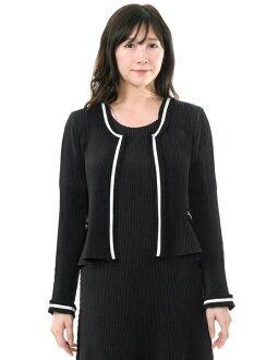 SPECCHIO スペッチオシャトルプリーツ color trimming bolero jacket four circle black