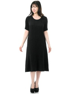 SPECCHIO スペッチオシャトルプリーツ A-line long dress four circle black