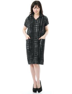 SPECCHIO スペッチオシャトルプリーツチェックプリント short sleeves dress