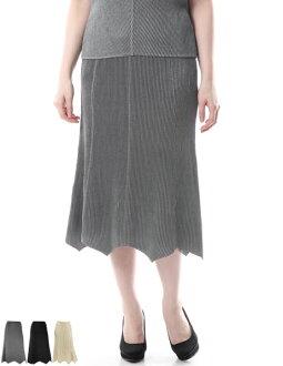SPECCHIO aspecto shuttle transformation hemline skirt [eight pleats stripped]