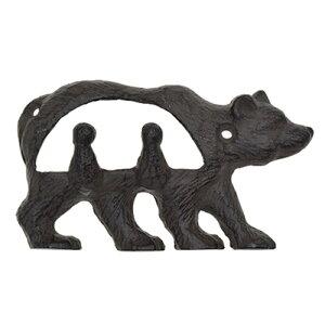 アンティークフック クマ 熊 [1個入 X 3 計:3個]・取付ねじ付属